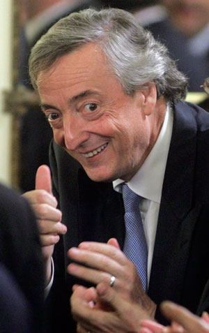 Нестор Киршнер бросил вызов МВФ