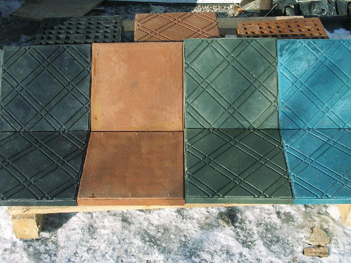 Полимер- песчаная технология позволяет производить тротуарную плитку и кровельные материалы