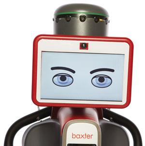 Анимированное «лицо» робота, созданного Родни Бруксом, упрощает взаимодействие механического работника с обслуживающим персоналом