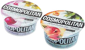 Это йогурты Cosmopolitan. А вы бы купили чипсы «Свой Бизнес»?