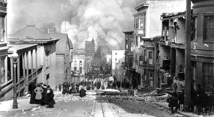 Жертвам разрушительного землетрясения 1906 года в Сан-Франциско Lloyd's выплатила огромные суммы
