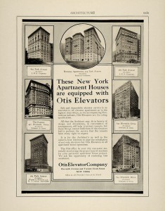 В начале XX века лифты Otis стали непременным атрибутом престижных многоэтажных жилых домов