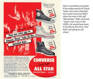 Припомощи таких рекламных призывов «Закажи сейчас баскетбольную обувь— Сonverse Chuck Taylor All Star» компания стремилась связать название марки сбаскетболом