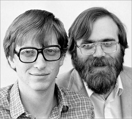 Основатели Microsoft Билл Гейтс и Пол Аллен в 1970-х годах не имели ни цели, ни видения, которые позволили бы им выстроить стратегию